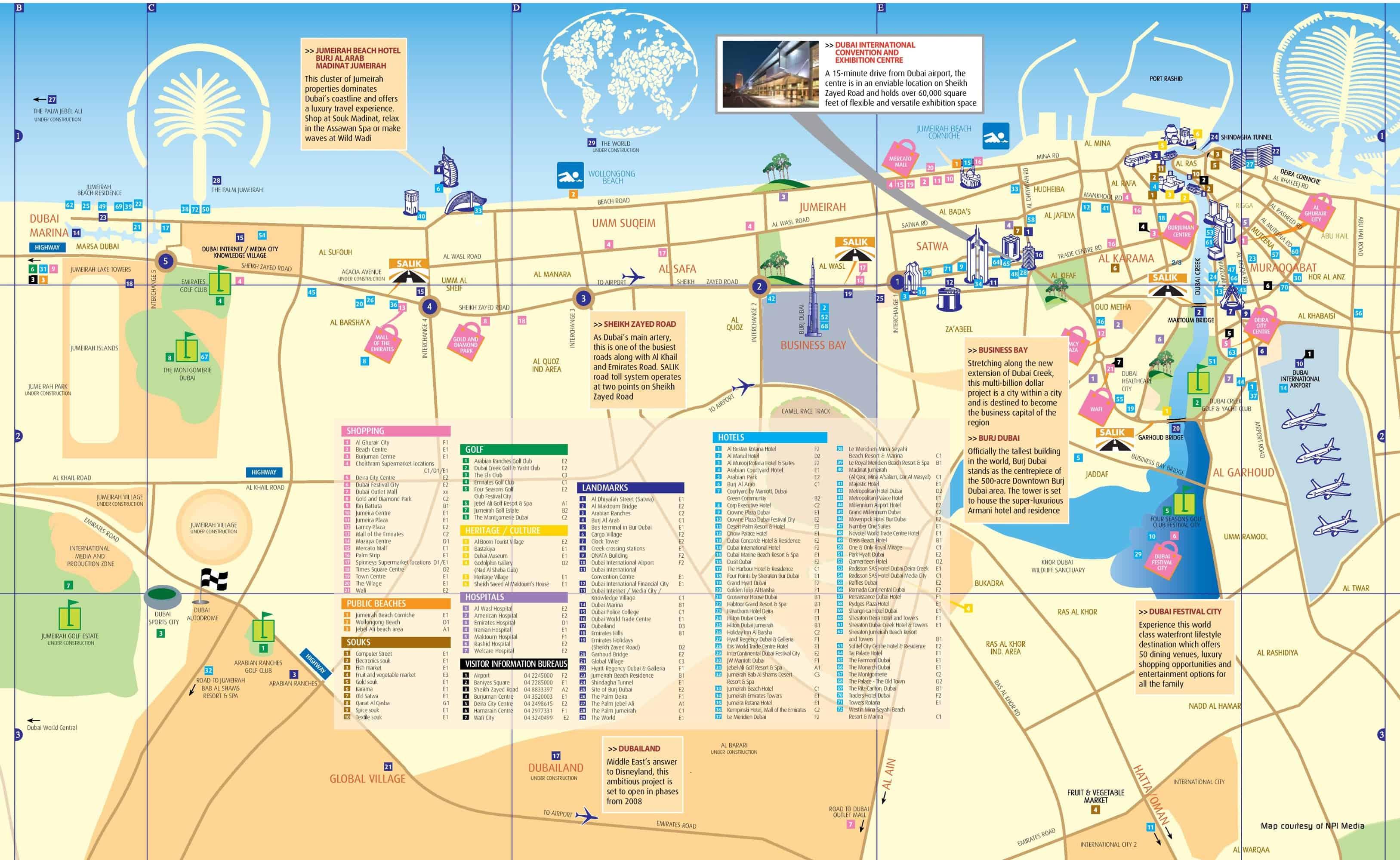 Dubaj Mapa Metra A Mapa Mesta